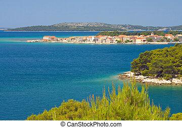 Panoramic views of the croatian coast, Dalmatia