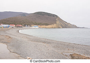 Panoramic views of the sea bay in the village of Sukko spring