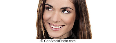 Panoramic woman
