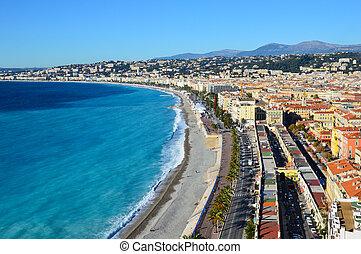 panoramico, bello, vista, francia