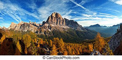 panoramico, italiano, vista, dolomities, bello