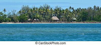 panoramico, paesaggio, vista, di, nanuya, levu, isola, in,...