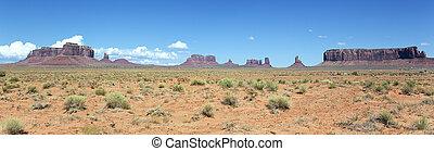panoramico, valle monumento, paesaggio