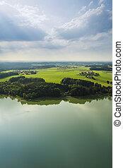 panoramiczny, bawaria, antenowy prospekt