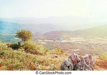 panoramiczny, cilento, park, krajowy, prospekt