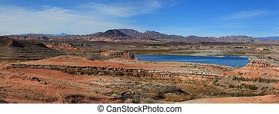 panoramiczny, jeziorowy miód, prospekt