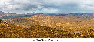 panoramiczny, krajowy, connemara, park, prospekt