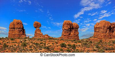 panoramiczny, narodowy park, skała, prospekt, sklepia, zrównoważony