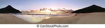 panoramiczny, plaża, zenit, wizje lokalne