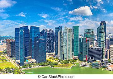 panoramiczny prospekt, od, singapore