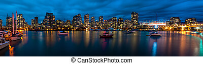 panoramiczny prospekt, od, vancouver