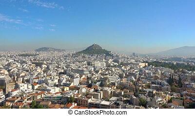 panoramique, athènes, vue