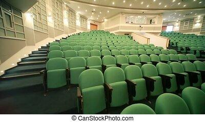 panoramique, auditorium, vide, sièges