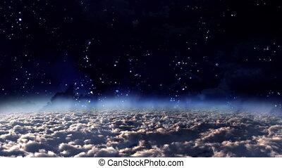 panoramique, ciel, jour, nuit