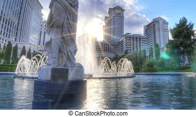 panoramique, décapité, statue