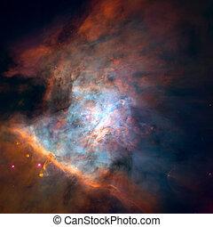panoramique, image, centre, nebula., orion