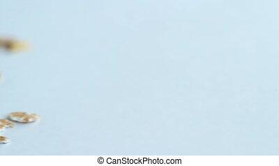 panoramique, métrage, flocons avoine, stockage