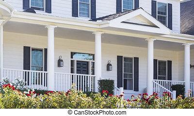 panoramique, maison, signe vente