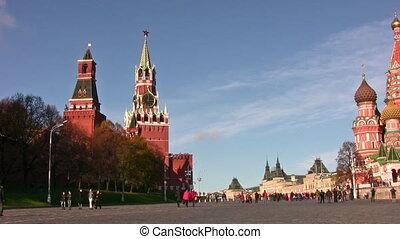 panoramique, moscou, kremlin, église