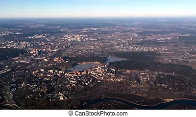 panoramique, moscou, russie, vue