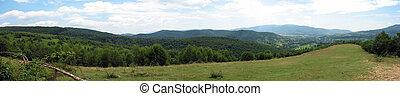 panoramique, paysage montagne