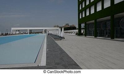 panoramique, piscine, natation