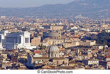 panoramique, rome, vue