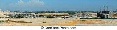 panoramique, site construction, vue