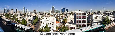 panoramique, tel-aviv, vue