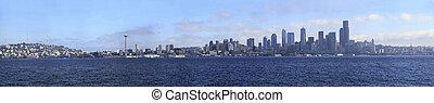panoramique, vue., seattle