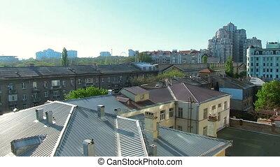 panoramisch, bewegung, odessa, architektur, stadt,...