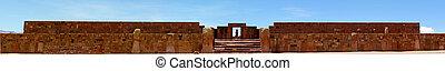 panoramisch, bolivien, ansicht, tempel, tiwanaku