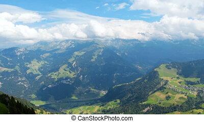 panoramisch, filmmeter, von, beatiful, berge, in, schweiz,...
