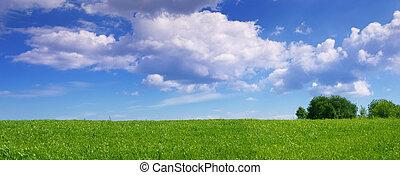 panoramisch, landschaftsbild