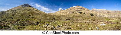 panoramisch, landschaftsbild, schottische