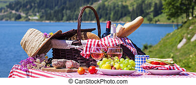 panoramisch, picknick