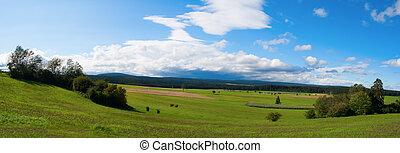 panoramische ansicht, von, a, sturm, aus, der, schwarzwald