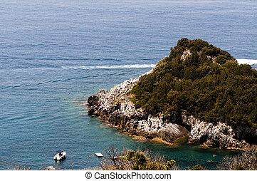 panoramische ansicht, von, der, meer, in, maratea.italy