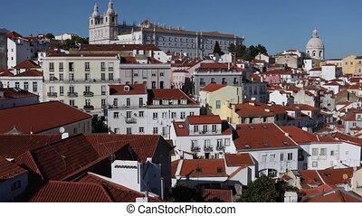 panoramische ansicht, von, lissabon, portugal
