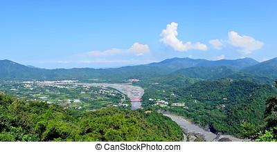 panoramische ansicht, von, südlich, taiwan