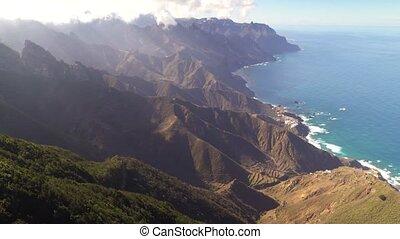 panoramische ansicht, von, schöne , berge, bei,...