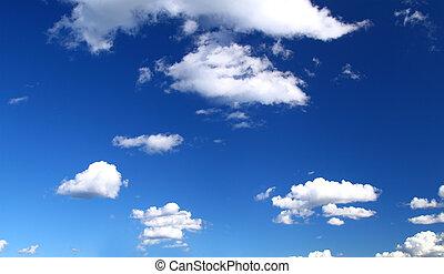 panoramische ansicht, von, sommer, himmelsgewölbe