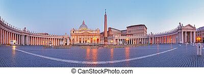 panoramische mening, rome., stad, vatican