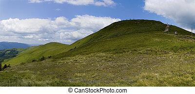 panoramiske, bjerg, bieszczady