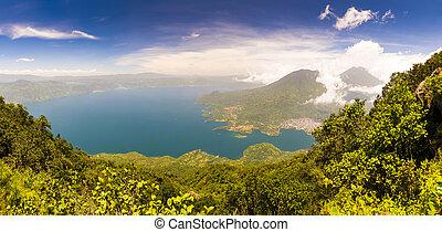 Panoraramic View Of Lake Atitlan
