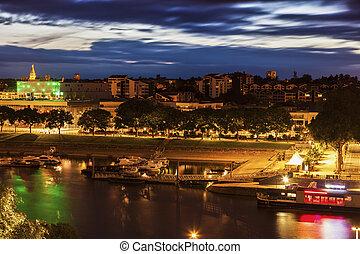 Panorma of Angers. Angers, Pays de la Loire, France.