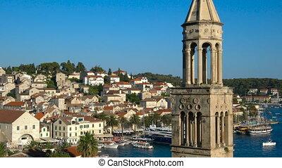 Summer in Hvar , Croatia - Hvar is a city and port on the island of Hvar, part of Split-Dalmatia County, Croatia. Hvar has a long history as center for Croatia trade, culture and travel attraction.