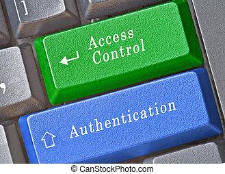 panowanie, dostęp, aunthication, klucz, klawiatura