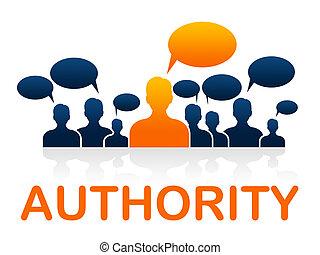 panowanie, dyrektor, autorytet, wskazuje, jedność, drużyna