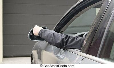 panowanie, oddalony, dzierżawa, otwarty, wóz, kierowca, garaż, samica, drzwi, automatyczny